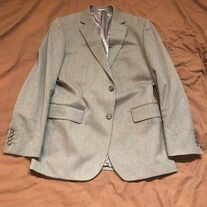 Stafford Travel Slim-Fit Suit Jacket Med Gray